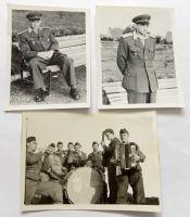 3x foto voják a vojenská kapela 50. léta
