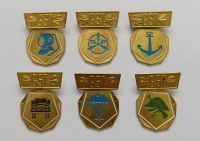 6x východoněmecký odznak GST (Gesellschaft für Sport und Technik)