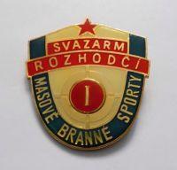 Svazarm rozhodčí I. masové branné sporty