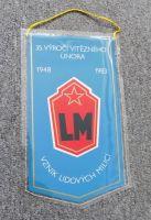 Praporek LM 35. výročí vítězného února