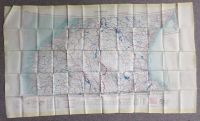 Úniková mapa pro pilota USAF z roku 1952 Helsinki-Trondheim