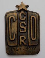 Hliníková plaketa CO ČSR 1951-1976
