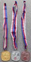 Tři pionýrské medaile Mezinárodní tábor míru PO SSM ČSSR