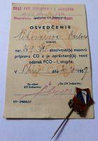Osvedčenie + odznak PCO