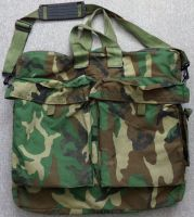 AH-64 Apache Helicopter Flyers Helmet Bag Woodland Camouflage